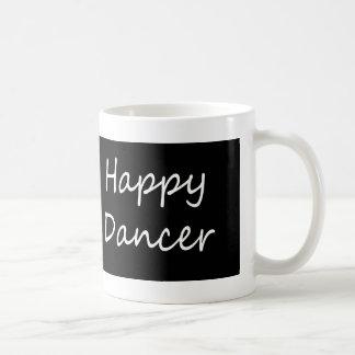 Glückliches Tänzer bw-Skript Kaffeetasse