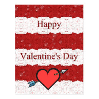 Glückliches Valentine' s-Tag Postkarte