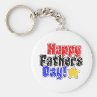 Glückliches Vatertag keychain Standard Runder Schlüsselanhänger