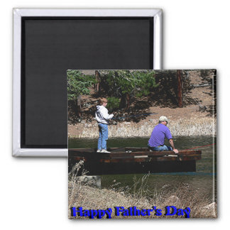 Glückliches Vatertags-Fischen Kühlschrankmagnet