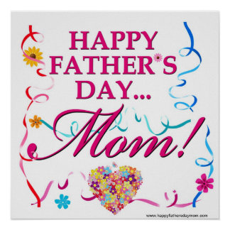 Glückliches Vatertags-Mamma-Plakat