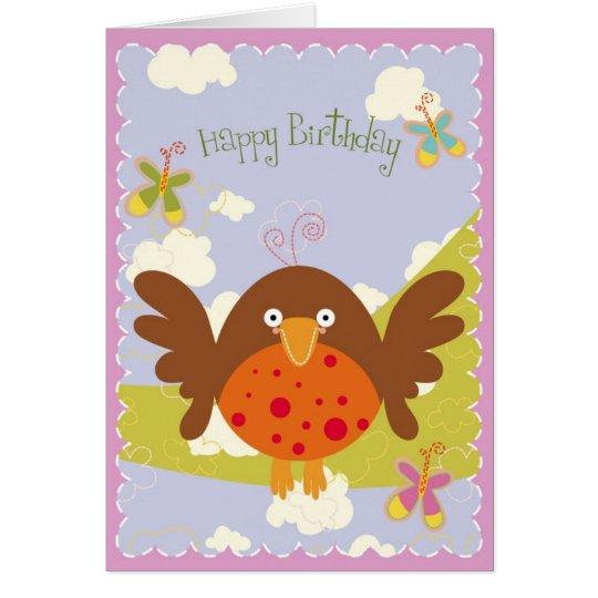 Glückliches Vogel-tägiges! Grußkarte