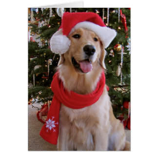Glückliches Weihnachten golden Grußkarte