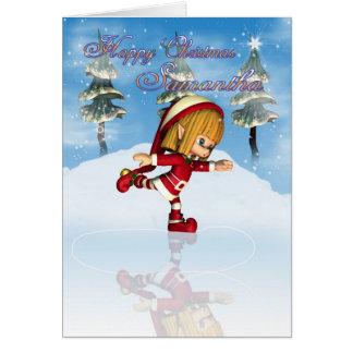Glückliches Weihnachtensamanthas Moonies Süsse Karte