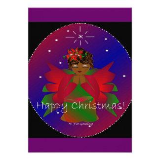 Glückliches Weihnachtsengels-Baby-Beten Individuelle Einladungen