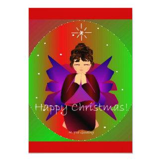 Glückliches Weihnachtsengels-Baby-Beten Einladungen