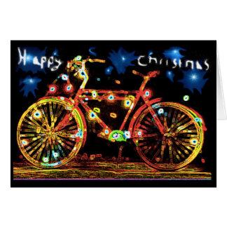 Glückliches Weihnachtsfahrrad Karte
