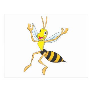 Glückliches Wespe-Insekt Postkarte