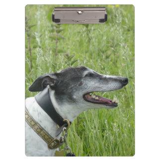 Glückliches Windhundklemmbrett (p381) Klemmbrett