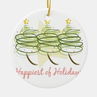 Glücklichste Feiertage Keramik Ornament