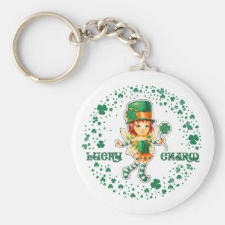 Glücksbringer. St Patrick Tagesgeschenk Keychains Schlüsselanhänger