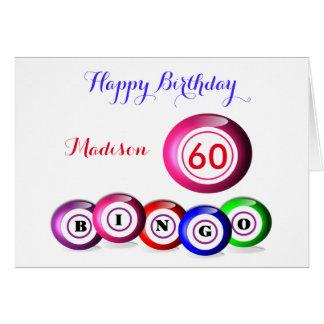 Glückszahl-Bingo-themenorientierter Geburtstag Grußkarte