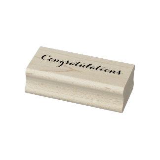 Glückwunsch-Abschluss-neues Baby-Zuhause-Job-Holz Gummistempel