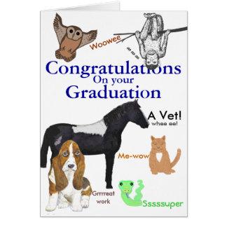 Glückwunsch-Abschluss-Tierarzt Grußkarte