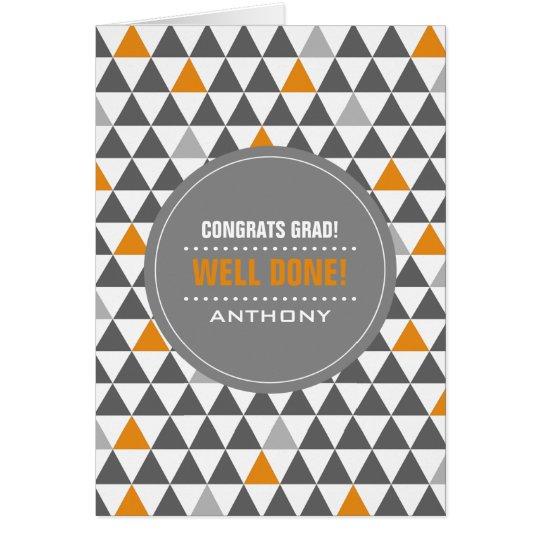 Glückwunsch-Absolvent. Geometrisches Grußkarte