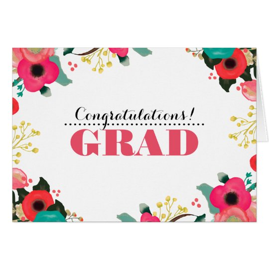 Glückwunsch-Absolvent. Grußkarte
