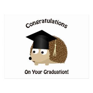 Glückwunsch auf Ihrem Abschluss-Igel Postkarte