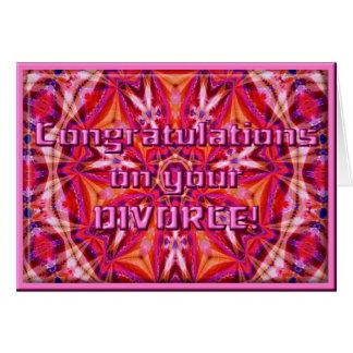 Glückwunsch auf Ihrer Scheidung!  Karten-Schablone Karte