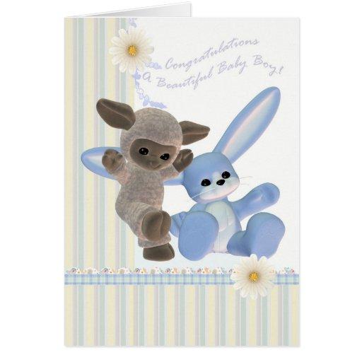 Glückwunsch-Baby-Karte, neues Baby