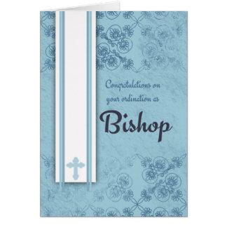 Glückwunsch-Bischofs-Klassifikation im Blau Grußkarte