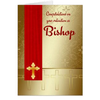 Glückwunsch-Bischofs-Klassifikation im Rot und im Grußkarte