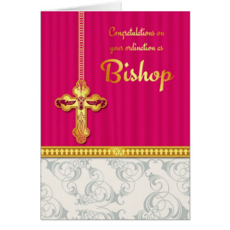 Glückwunsch-Bischofs-Klassifikation in gemischter Grußkarte