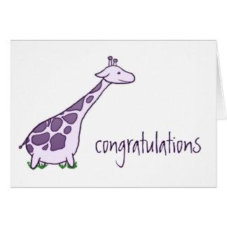 Glückwunsch-Giraffe Karte