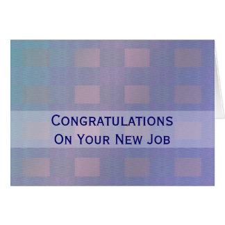 Glückwunsch-Jobpastellblau Grußkarte