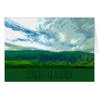 Glückwunsch-Karte - Berge (freier Raum nach innen) Grußkarte