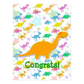 Glückwunsch-orange Postkarte