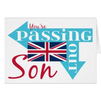 Glückwunsch-Sohn, der heraus britisches Militär Grußkarte