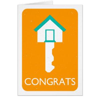 Glückwunsch-Zuhauseschlüssel Karte