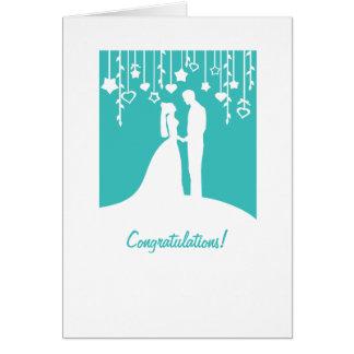 Glückwünsche auf dem Erhalten der verheirateten Karte