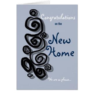 Glückwünsche auf dem neuen Zuhause sind wir so Karte