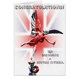 Glückwünsche auf dem Werden ein britischer Bürger! Karte
