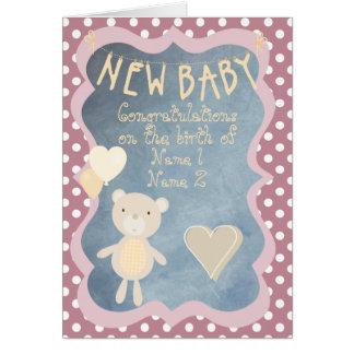 Glückwünsche auf der Geburt Ihres neuen Babys Karte