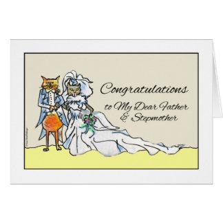 Glückwünsche auf Hochzeit für Vater, Stiefmutter Karte
