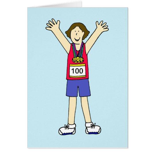 Glückwünsche auf Ihrem 100. Marathon für eine Dame Karte
