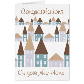 Glückwünsche auf Ihrem neuen Zuhause Karte