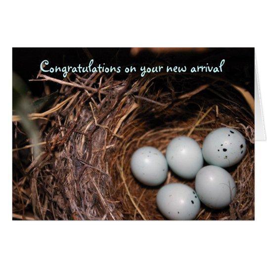 Glückwünsche auf Ihrem Neuzugang Grußkarte