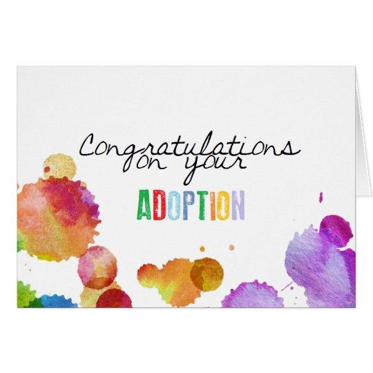 Glückwünsche auf Ihrer Adoption Grußkarte