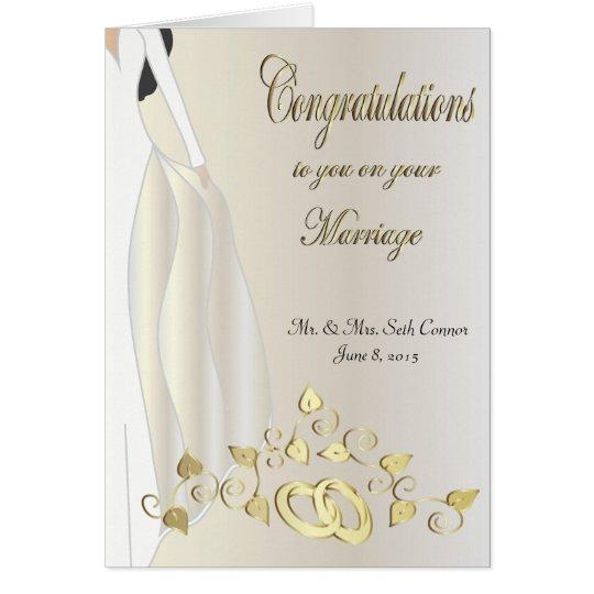 Glückwünsche auf Ihrer Heirat-Karte Karte