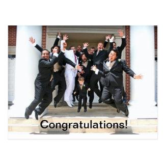 Glückwünsche auf Ihrer Hochzeit Postkarte
