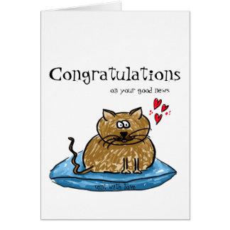 Glückwünsche auf Ihrer Katzenillustration der Karte
