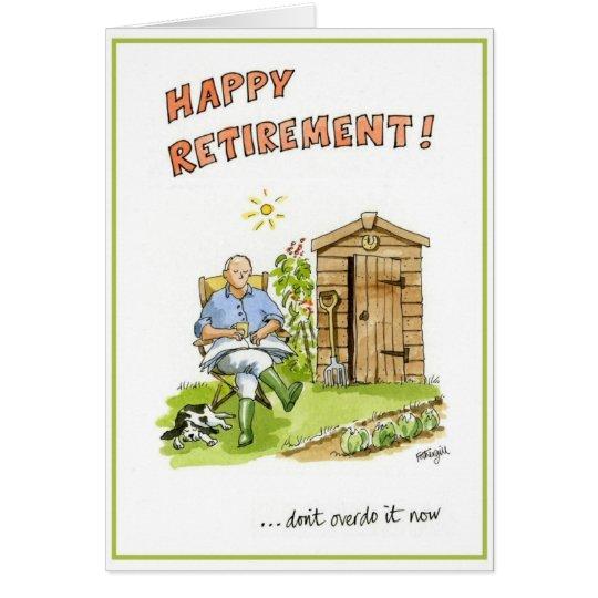 Glückwünsche auf Ihrer Ruhestandsgrußkarte Karte