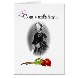 Glückwünsche auf Krankenpflege Grad-Spaß Grußkarte
