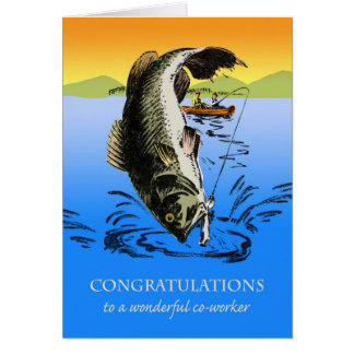 Glückwünsche auf Ruhestand für Mitarbeiter, Fisch Karte