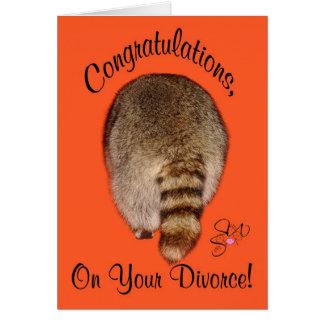 Glückwünsche auf Scheidung Karte