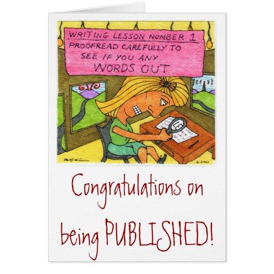 Glückwünsche auf Veröffentlichung! Grußkarte