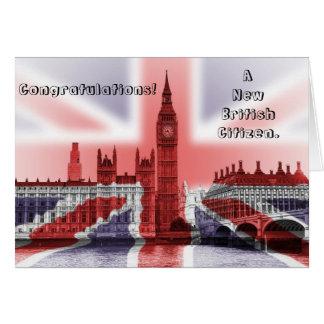 Glückwünsche! Ein neuer britischer Bürger Karte